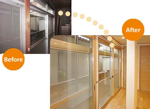 高性能・省エネリフォーム エコ内窓設置