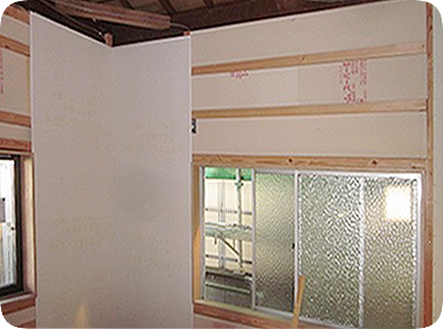 高性能・省エネリフォーム 壁断熱・耐力壁パネル
